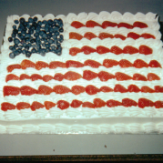 4th of July American Flag Cake