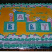 Custom Baby Shower Cake Design