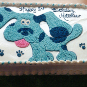 Custom Blues Clues Birthday Cake Design