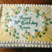 30th Birthday Cake With Daisies