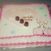 Lucille Ball Birthday Cake Design