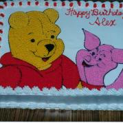 Custom Pooh and Piglet Birthday Cake Design
